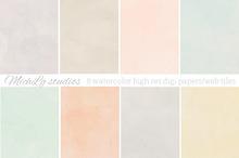 8 Watercolor web tiles & high res