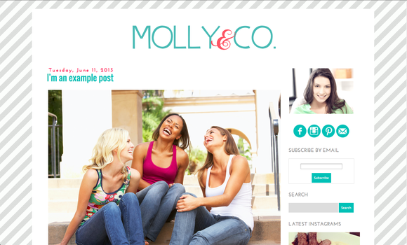 Molly premade blogger blog template ~ Themes  Free Download