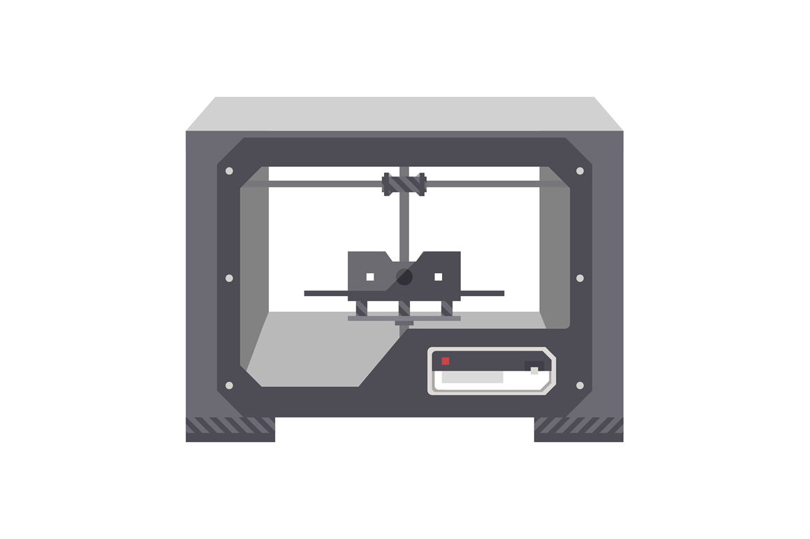 3d Printer Illustrations On Creative Market