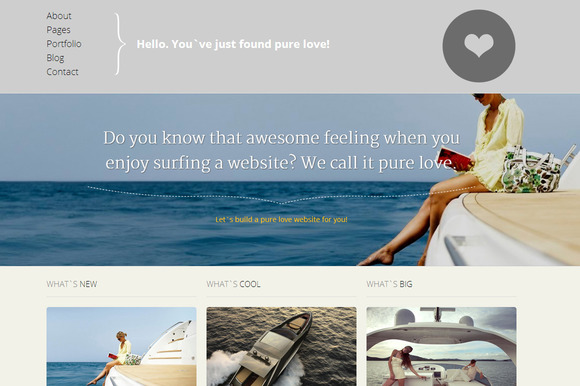 Pure Love Responsive Site Template ~ Website Templates  Free Download