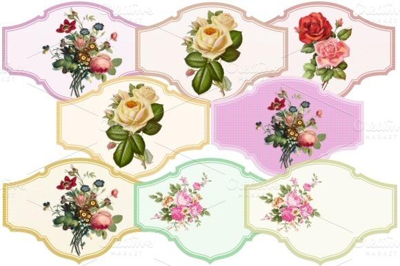 Vintage Style Flower Labels