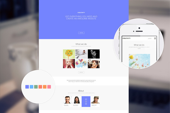 Creativity Responsive One Page