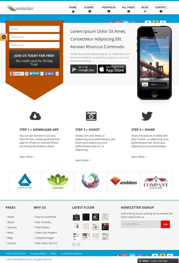 UNOLUTION Responsive WordPress Theme ~ WordPress Themes  Free Download