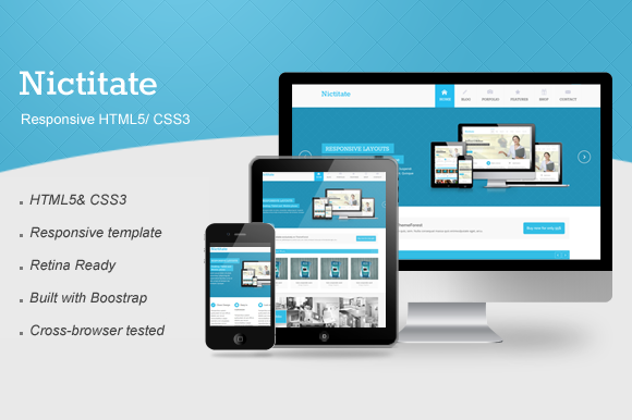 Nictitate – Responsive HTML5 ~ Website Templates  Free Download