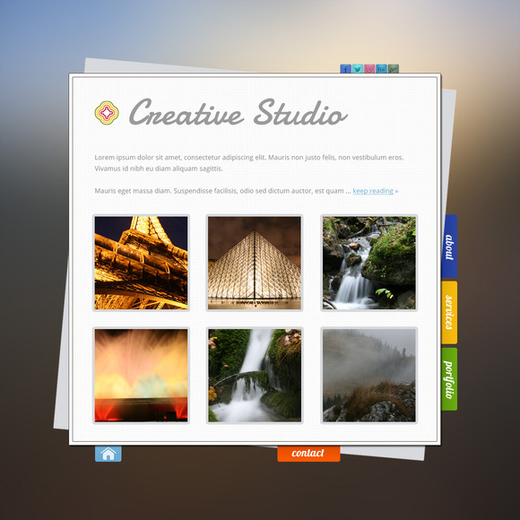 Creative Portfolio PSD ~ Website Templates  Free Download