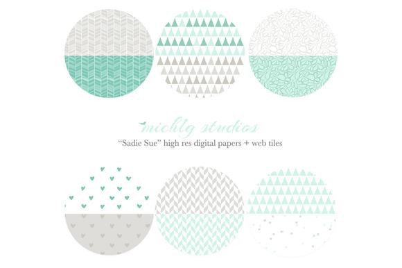 Sadie Sue Web Tiles Digi Paper