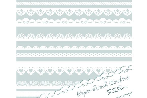 Paper Punch Borders Lace Clip Art