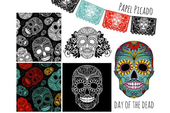 Sugar Skull Day Of The Dead Clip Art