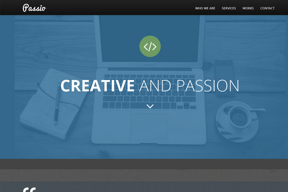Passio Flat bootstrap template ~ Bootstrap Themes  Free Download