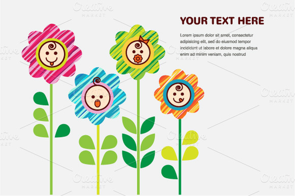 Smiling Flowers With Babies