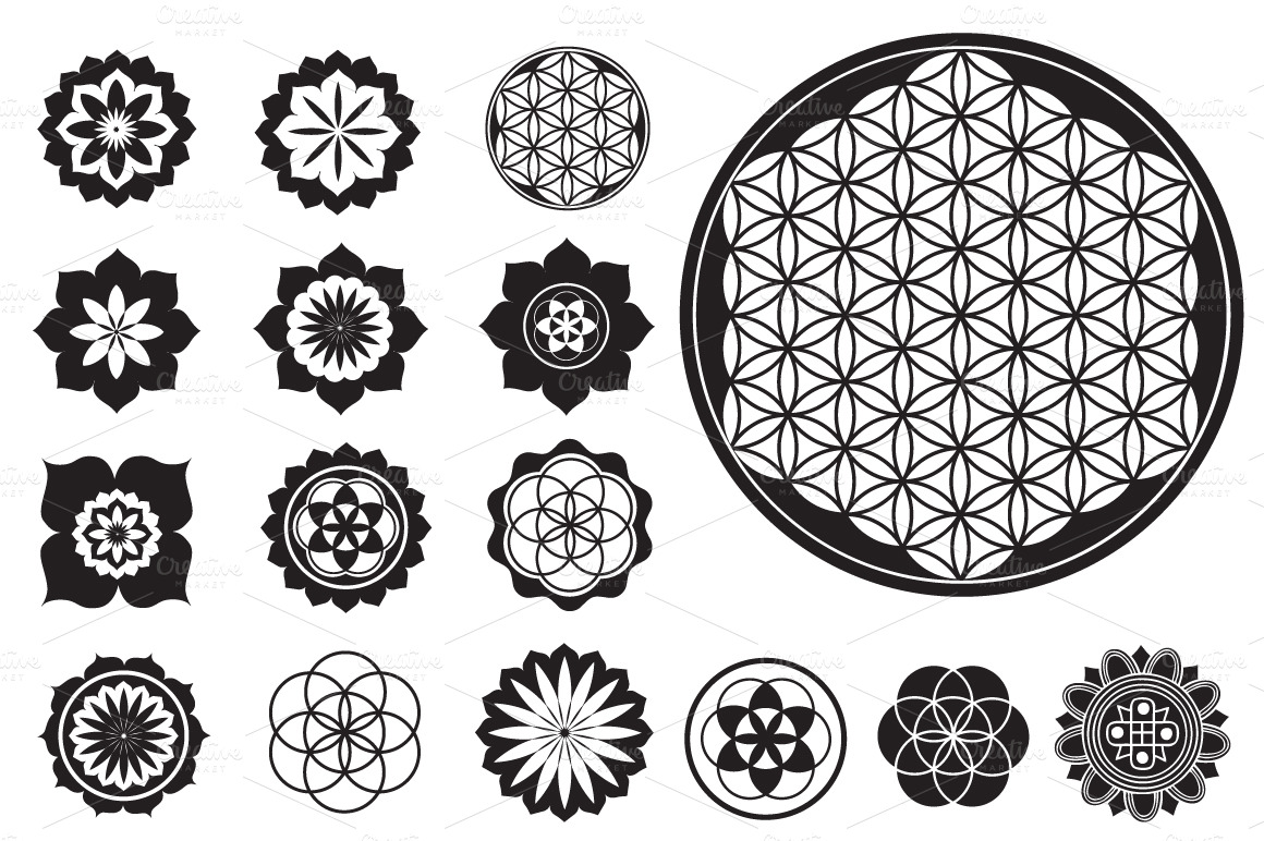 Coloring Flower Of Life : Flower of life colouring pages page