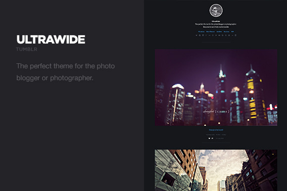 UltraWide – Photography Tumblr Theme ~ Tumblr Themes  Free Download