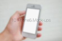 10 iPhone5 Mock-ups