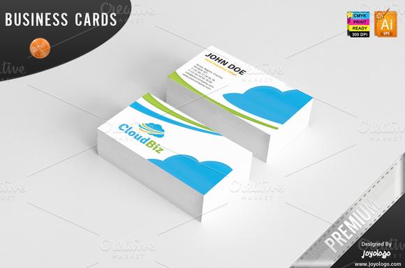 IT Cloud Service Business Cards
