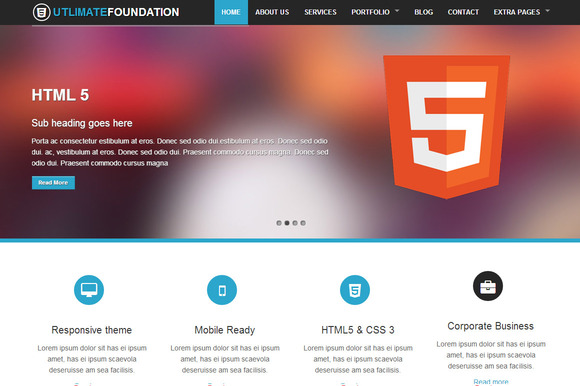 Foundation 4 Business Theme 5 in 1 ~ Website Templates  Free Download