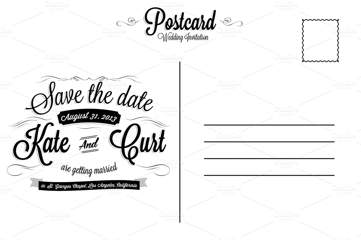 Download postcard back templates free amafilecloud for Backside of postcard template