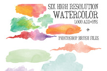 6 High Res Watercolor Add Ons