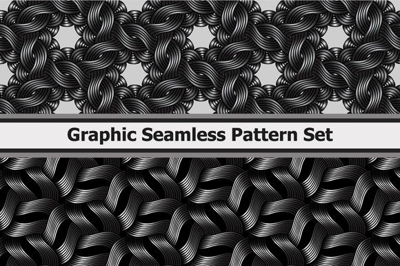 8 Graphic Wavy Metallic Patterns