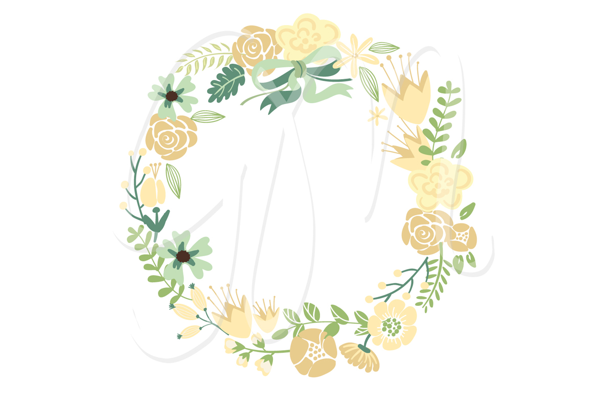 Floral Wreaths clip art and flowers Illustrations on Creative Market