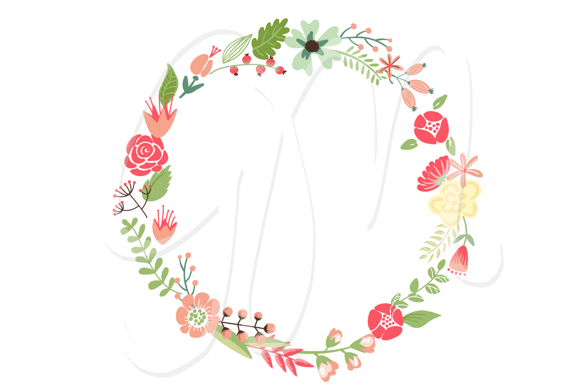 Floral Wreaths clip art and flowers ~ Illustrations on Creative Market