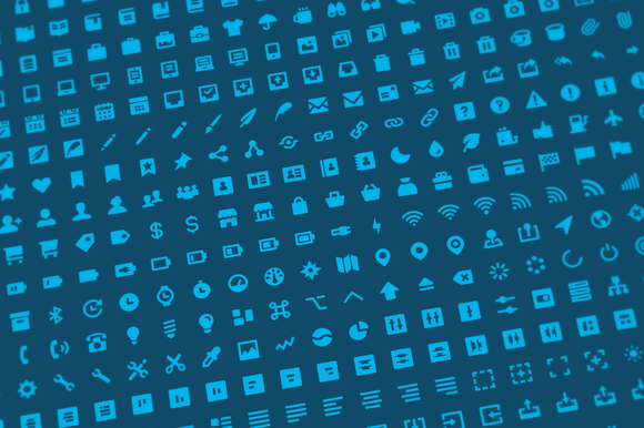 500 Solid Icons Font