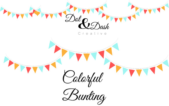 Colorful Bunting Vector