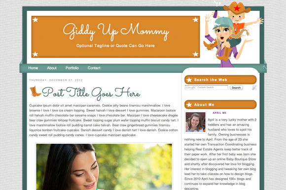 Giddy Up Mommy Blonde Theme ~ WordPress Themes  Free Download