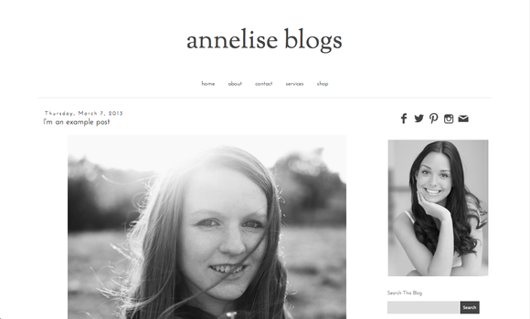 Annelise premade blogger template ~ Themes  Free Download