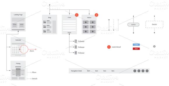 creativemarket website flowcharts and site maps ai heroturko download. Black Bedroom Furniture Sets. Home Design Ideas