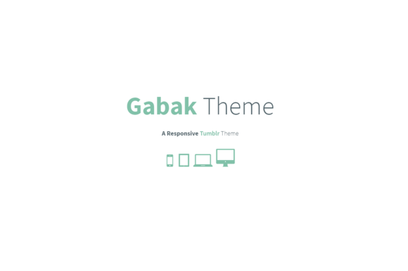 Gabak – Responsive Tumblr Theme ~ Tumblr Themes  Free Download