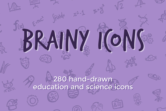 Brainy Icons 280 Science Icons