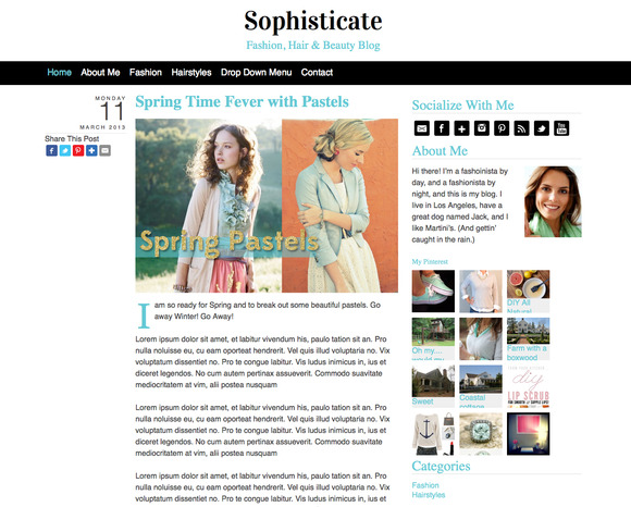 Sophisticate WordPress Theme ~ WordPress Themes  Free Download