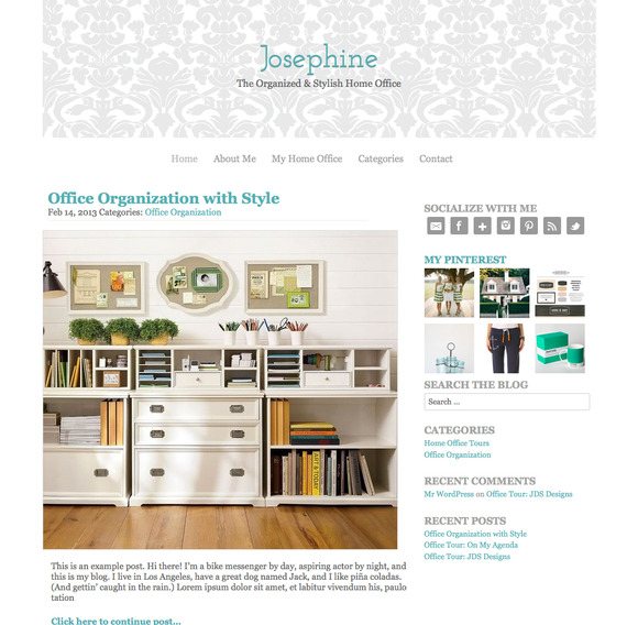 The Josephine WordPress Theme ~ WordPress Themes  Free Download