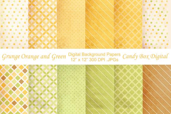 Grunge Orange Green Background Paper