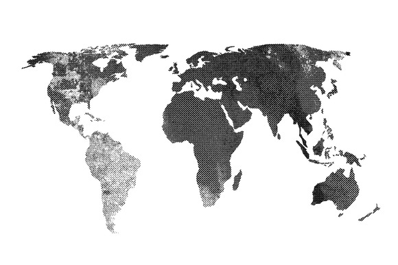 Halftone Textured Map Vector