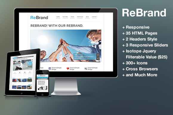 ReBrand – Responsive Business Html ~ Website Templates  Free Download
