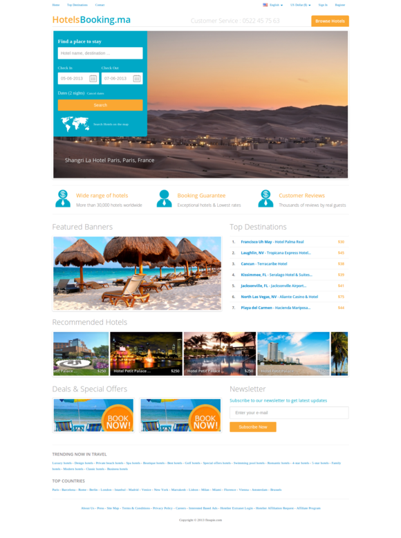 Hotelia – Online Booking Template ~ Website Templates  Free Download