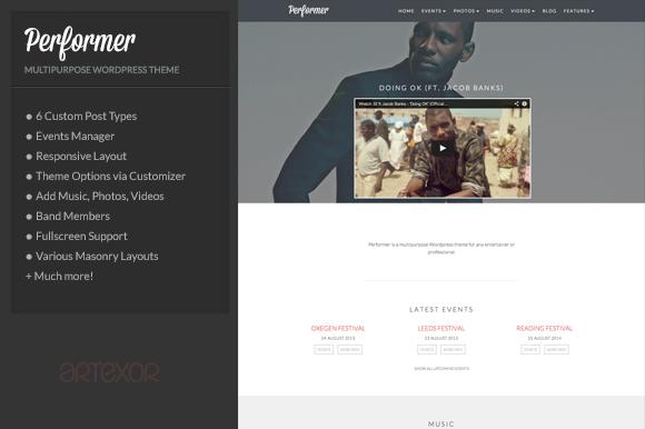 Performer – Multi-Purpose WordPress ~ WordPress Themes  Free Download