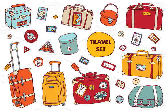 Travel Set Vintage Suitcases