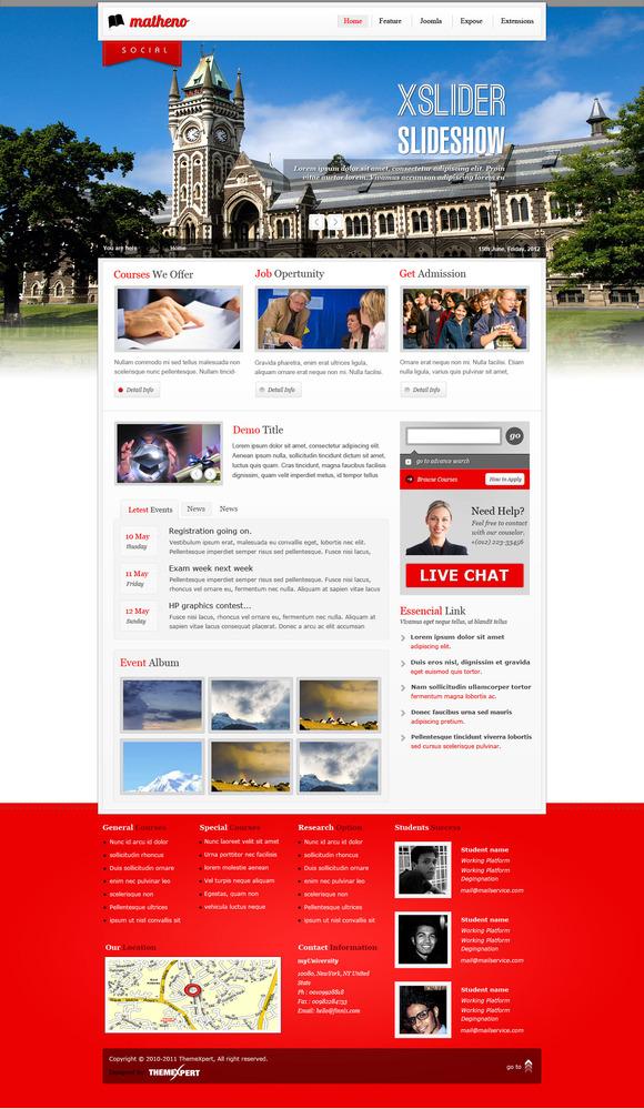 Matheno – Education Template ~ Joomla Themes  Free Download