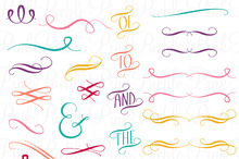 Hand Drawn Flourishes PS Brushes