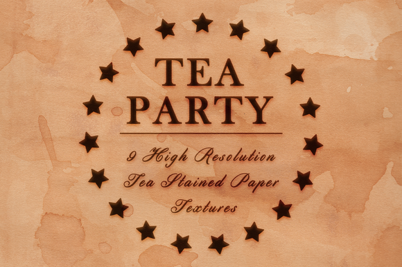 Tea Party 9 Stained Paper Textures