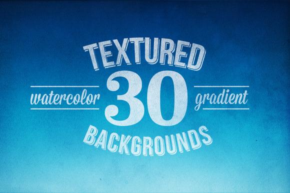 30 Flat Watercolor Textures