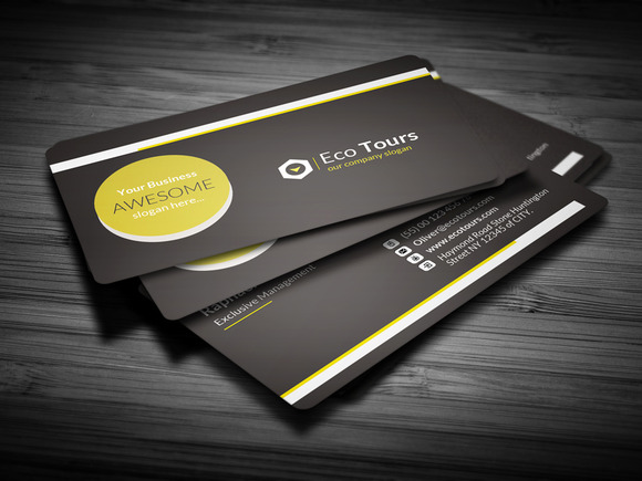 Black Corporate A D Business Card