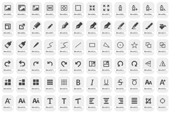 Modern UI Icons Drawing