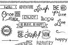 Doodle Words Clipart and Vectors