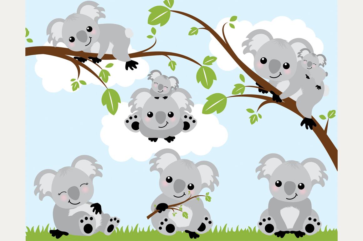 Koala bears illustrations on creative market - Koala components ...