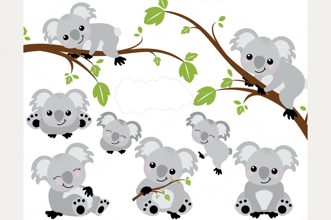 Baby koala bear drawing the image kid - Koala components ...