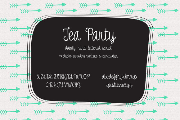 Tea Party Handlettered Typeface