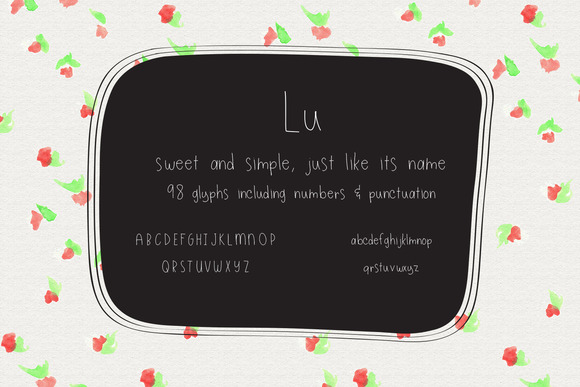Lu Handlettered Font